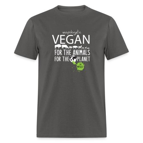 unapologetic VEGAN - Men's T-Shirt