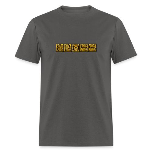Cr0ss Gold-Out logo - Men's T-Shirt