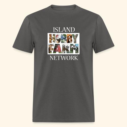 Island Hobby Farm White Logo - Men's T-Shirt