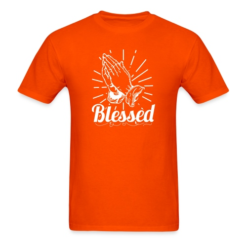 Blessed (White Letters) - Men's T-Shirt