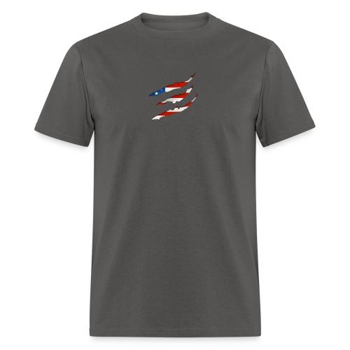 3D American Flag Claw Marks T-shirt for Men - Men's T-Shirt