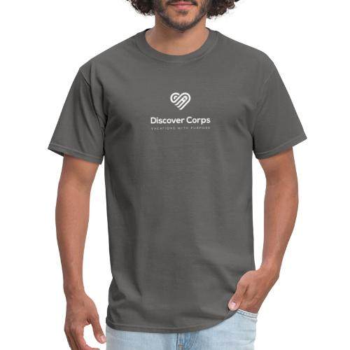 DiscoverCorp Logo Vertical Rev High - Men's T-Shirt