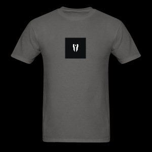 Small Black Box Divided Time Logo - Grey - Men's T-Shirt