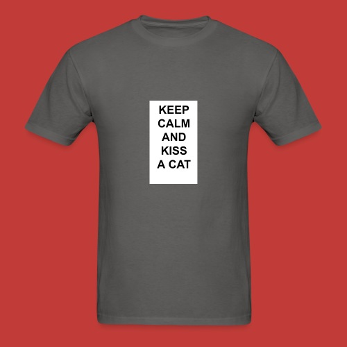 Keep calm and kiss a cat - Men's T-Shirt