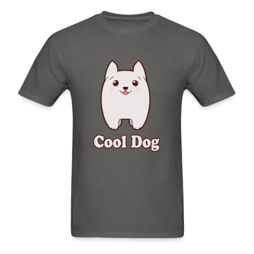 Cool Dog Fluffy Dog Logo - Men's T-Shirt