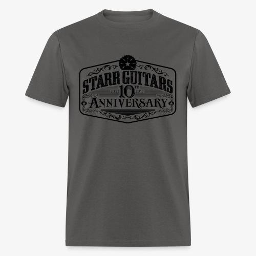 Starr Guitars 10th Anniversary Black Logo - Men's T-Shirt