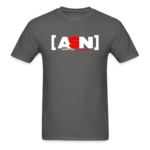 ASN Lifestyle Magazine White Logo - Men's T-Shirt