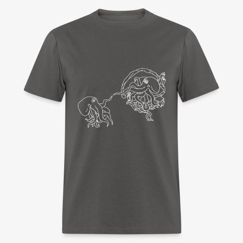 Octopus Creation White Outline - Men's T-Shirt