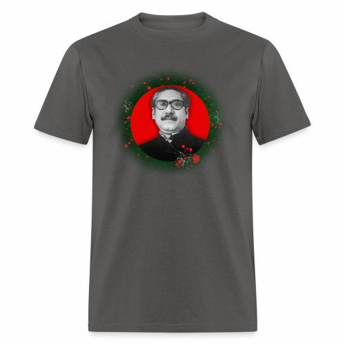Bangabandhu inside red circle of flag - Men's T-Shirt