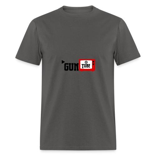 guntube larger logo - Men's T-Shirt