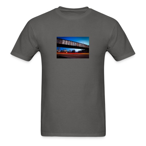 Husttle City Bridge - Men's T-Shirt
