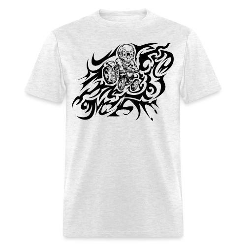 Flamed Skully Quad - Men's T-Shirt