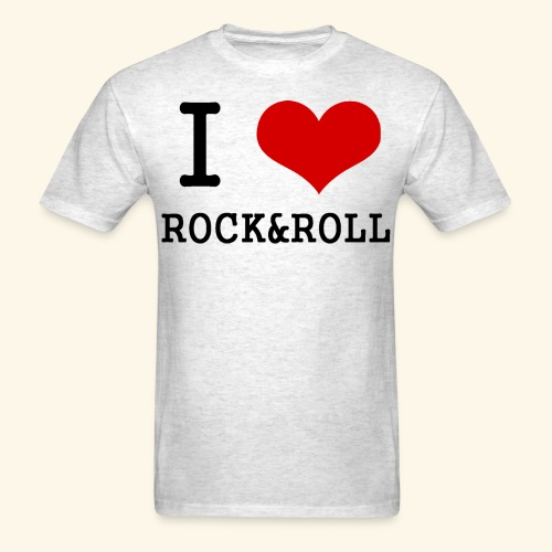 I love rock and roll - Men's T-Shirt