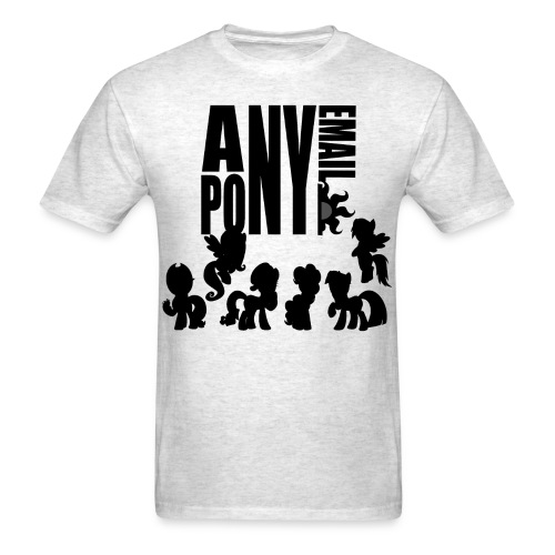 anypony email design 1 - Men's T-Shirt
