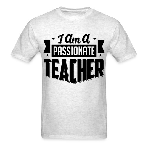 Passionate Teacher Black/Grey - Men's T-Shirt