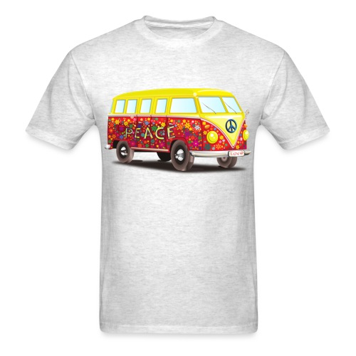 hippie peace and cool fun awesome illustration - Men's T-Shirt
