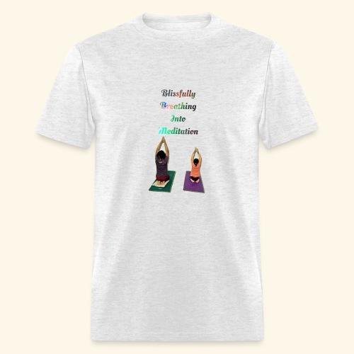 Blissing Breathing into Meditation - Men's T-Shirt
