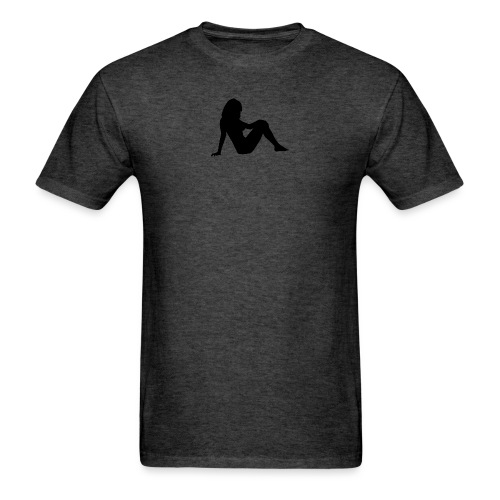 femalesilhouetteblack - Men's T-Shirt