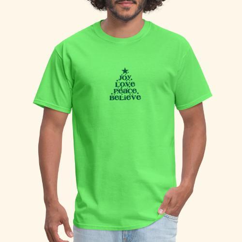 Christmas Tree Joy Peace Believe - Men's T-Shirt