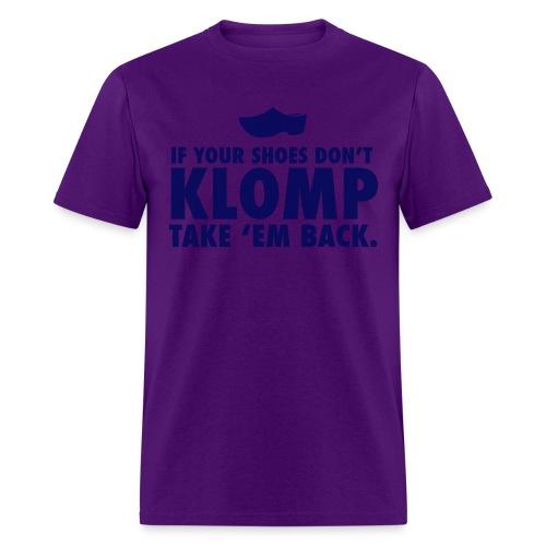 07 Klomp blue lettering - Men's T-Shirt
