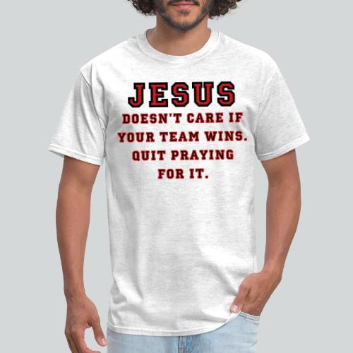 Jesus: Not a Sports Fan - Men's T-Shirt