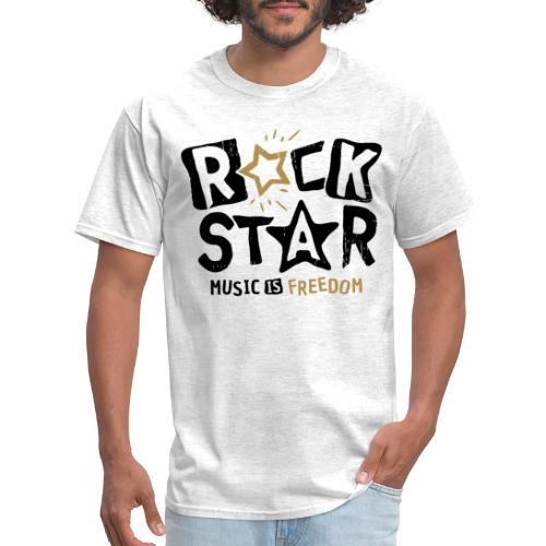 rock star music freedom - Men's T-Shirt