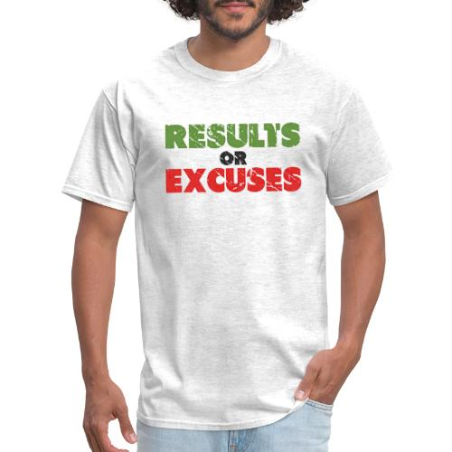 Results or Excuses   Vintage Style - Men's T-Shirt