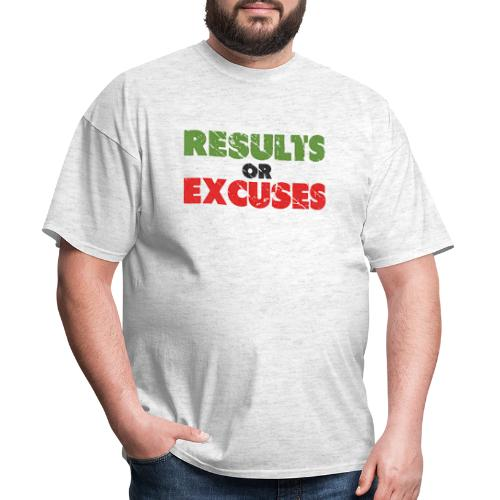 Results or Excuses | Vintage Style - Men's T-Shirt