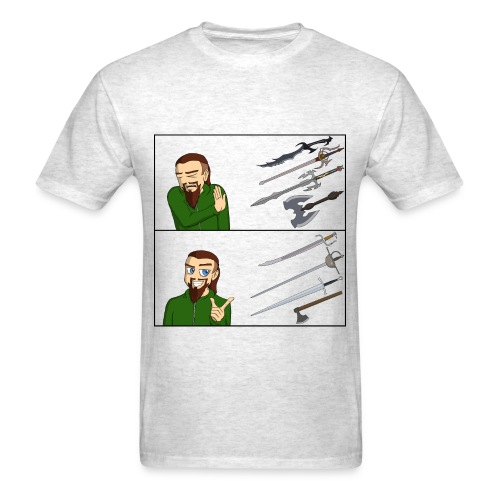 Sword Reaction Meme - Men's T-Shirt