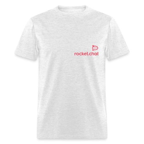 Red Logo Rocket.Chat - Men's T-Shirt