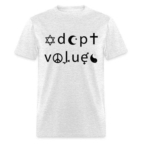 Adopt Values / Tolerance Parody / Coexist Parody - Men's T-Shirt