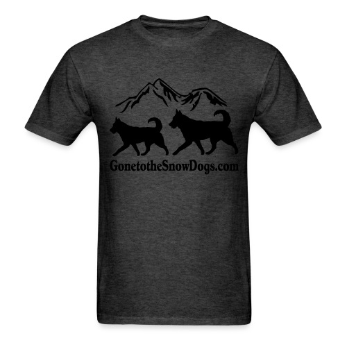Snow Dogs with Mountain - Men's T-Shirt
