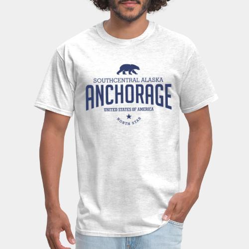 alaska anchorage usa bear - Men's T-Shirt