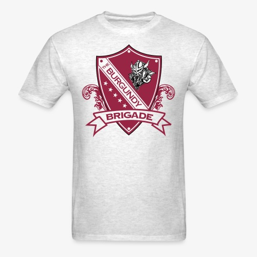 Burgundy Brigade Logo - Men's T-Shirt