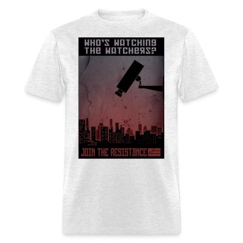 whos watching the watchers - Men's T-Shirt