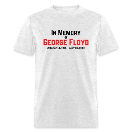 In Memory of George Floyd (black & red version) - Men's T-Shirt