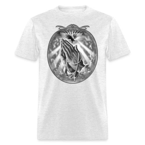 Praying Hands by RollinLow - Men's T-Shirt