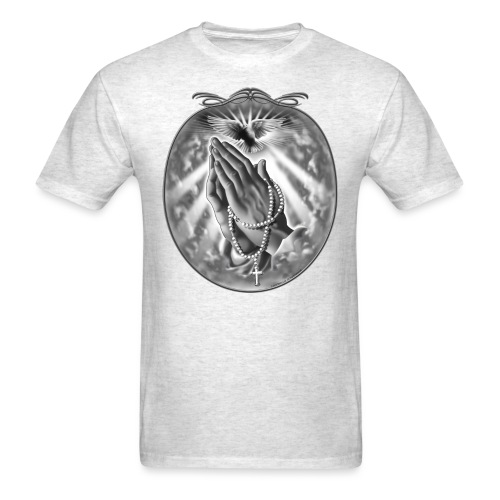 Praying Hands by RollinLow - Men's T-Shirt