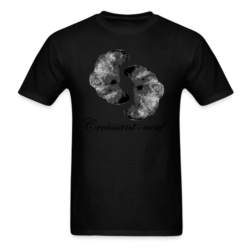 croissant3 black - Men's T-Shirt