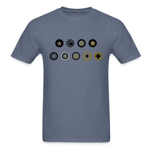 Axis & Allies Country Symbols - 3 Color - Men's T-Shirt