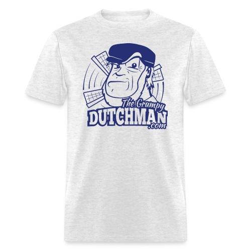 03 Grumpy Head Logo blue only - Men's T-Shirt