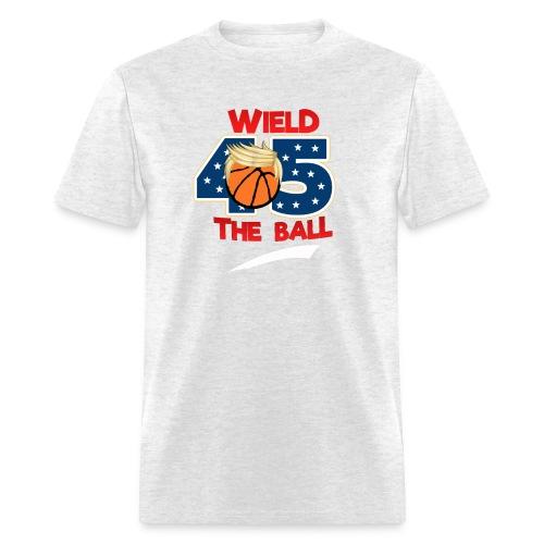 Funny Wield The Ball Trump BasketBall Wall Tee - Men's T-Shirt