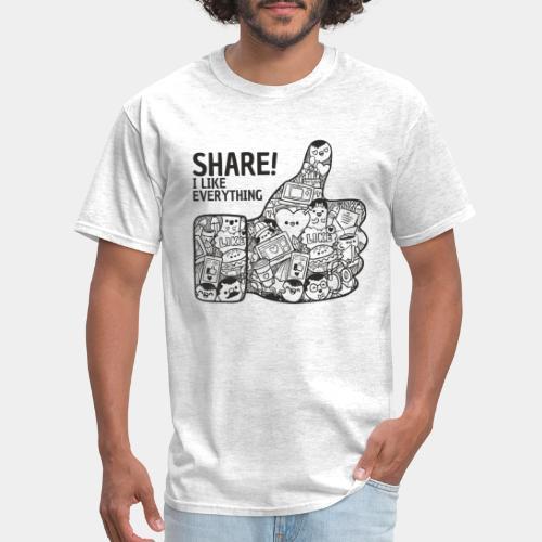 like social media - Men's T-Shirt