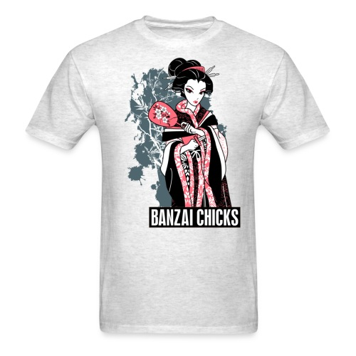 Cool Cartoon Geisha Ladies Fitted T-shrit by - Men's T-Shirt