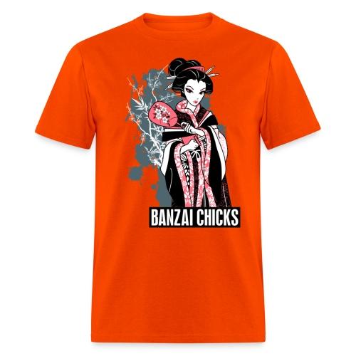 Cool Cartoon Geisha Ladies Fitted T-shrit by - Men's T-Shirt