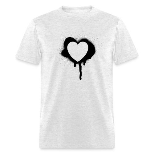 graffiti valentine's day heart - Men's T-Shirt