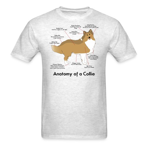Anatomy of a Collie - Men's T-Shirt