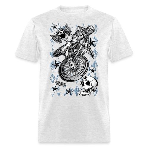 Motocross Dirt Bike Grunge Shirt - Men's T-Shirt