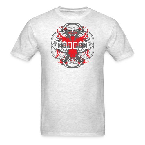 3 colour front black based png - Men's T-Shirt