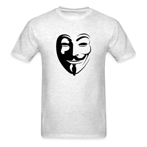 Anonymous Round Face gif - Men's T-Shirt
